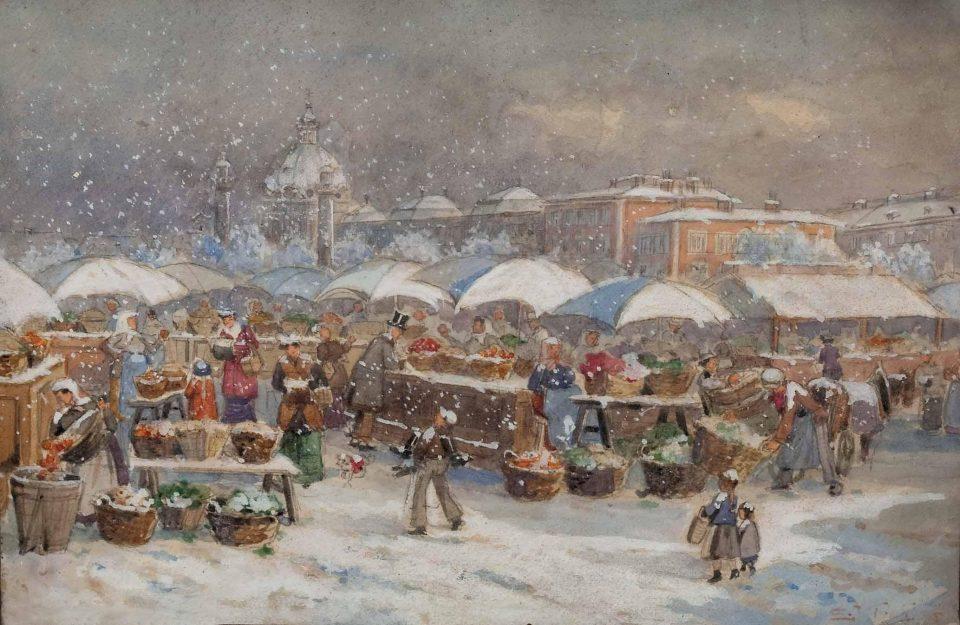 12_Market in Winter by Emmerich_Kirall