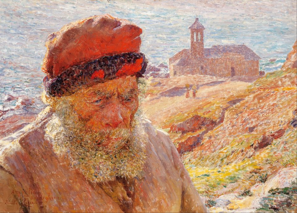 2_Old_fisherman_of_Bordighera by Emile_Claus