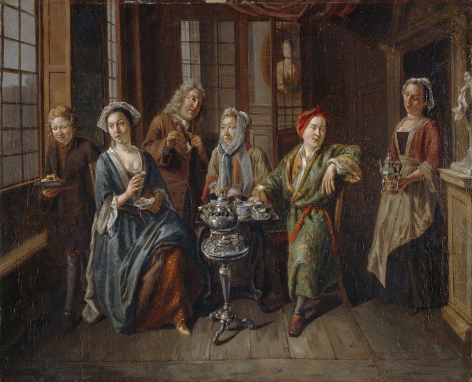 3_A Tea Party by van Aken