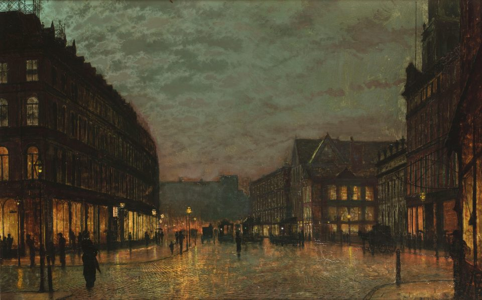 5_Boar Lane Leeds by Lamplight by John_Atkinson_Grimshaw