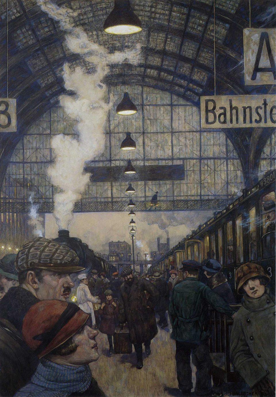 6_Railway Station by Hans_Baluschek