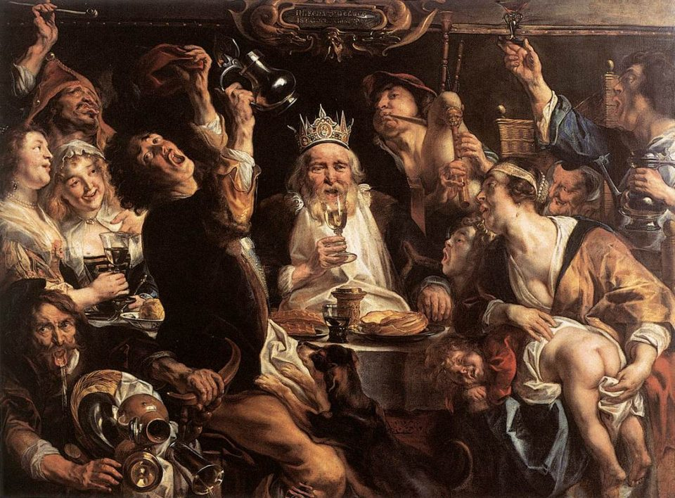 7_The King Drinks by Jacques Jordaens